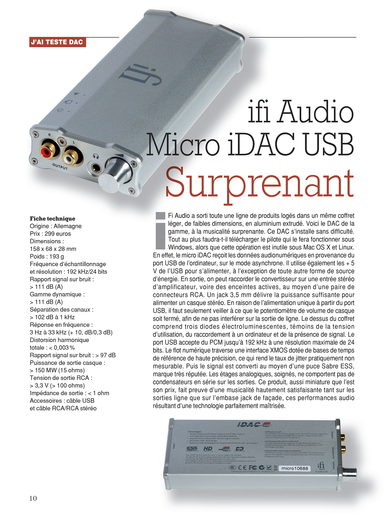 Micro iDAC: Surprising!